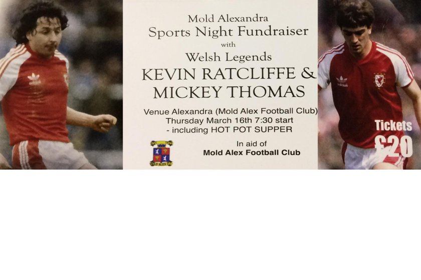 Mold Alex Legends Evening Announced with Kevin Ratcliffe and Micky Thomas!!!