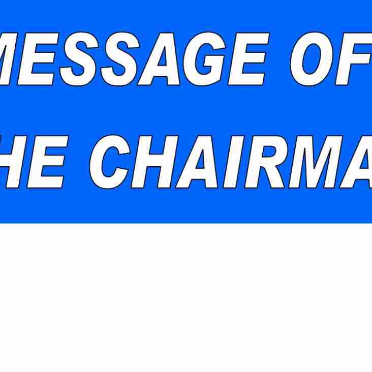 Message off the Chairman