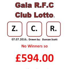 This week's Club lotto letters 07.07.16