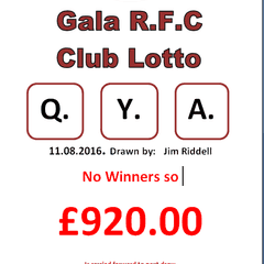 This weeks Lotto letters....