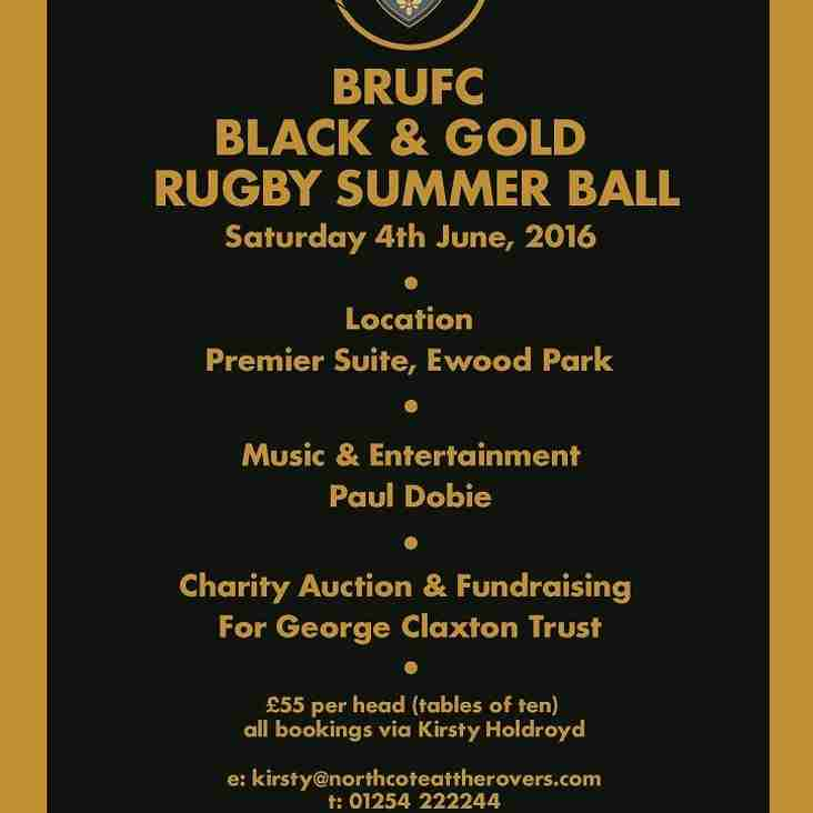 BRUFC SUMMER BALL SATURDAY 4th JUNE 2016