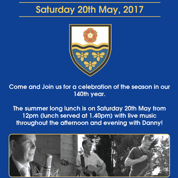 SAT 20th MAY 2017 SUMMER LONG LUNCH