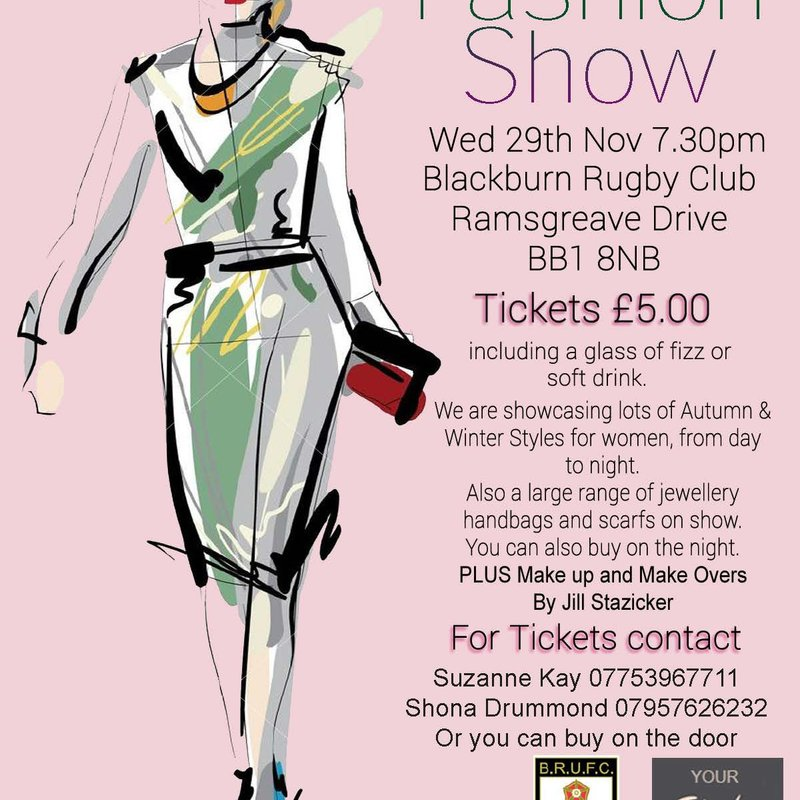 WINTER FASHION SHOW - WEDS  29th  NOV 2017 at 7:30pm
