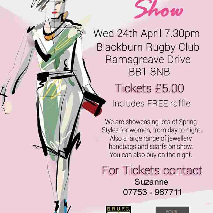 BRUFC FASHION SHOW WEDNESDAY 24th APRIL 2019 7:30pm £5 pp