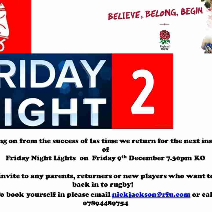 Friday Night Lights 2 - Friday 9th December 2016