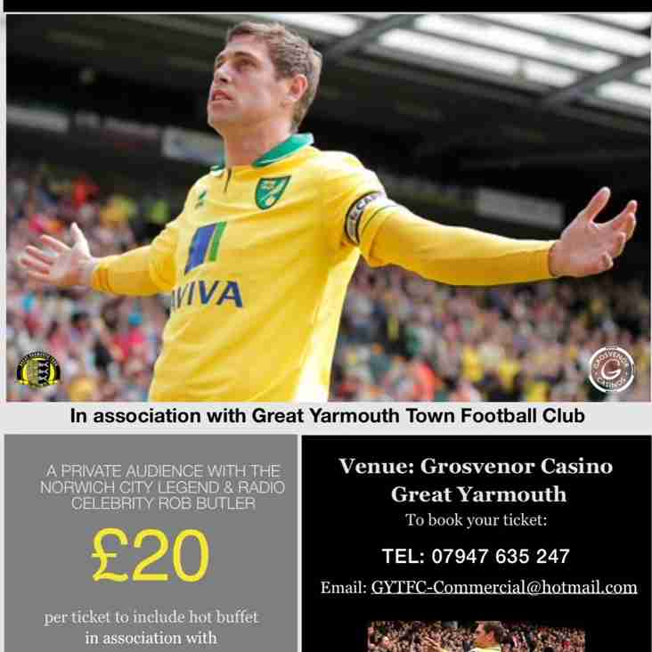 An Evening with Grant Holt and Rob Butler