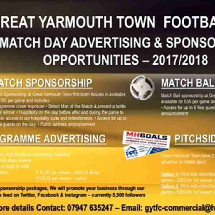 Sponsorship Opportunities for all