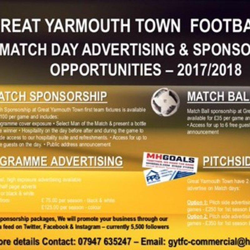 Sponsorship Opportunities for all