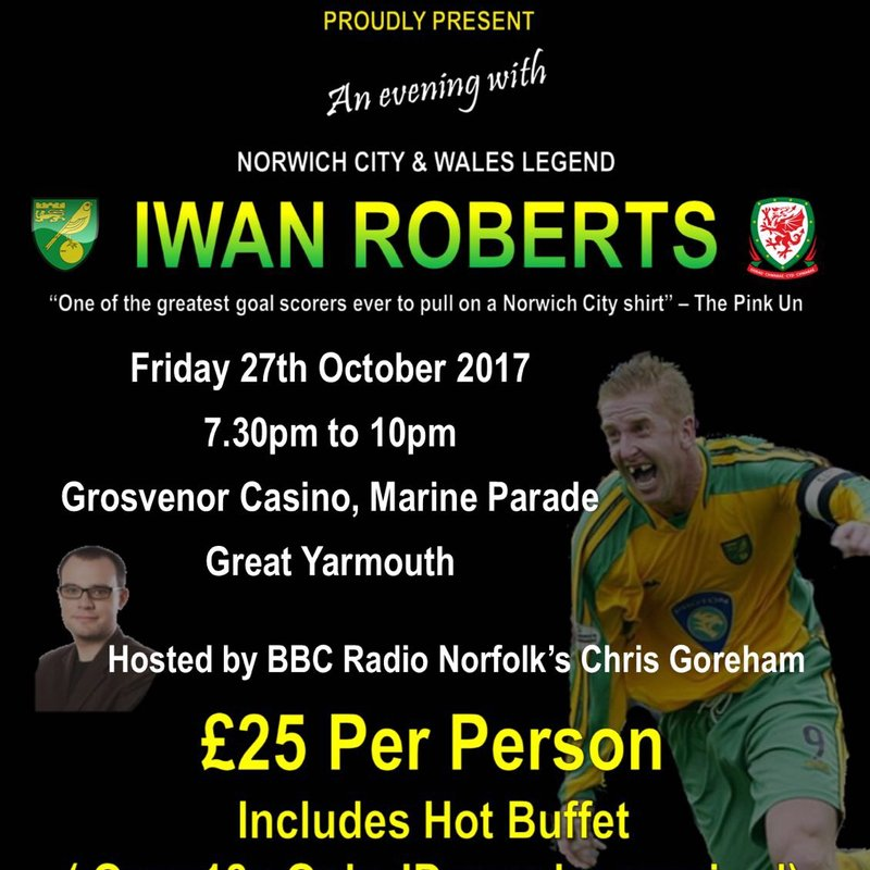 AN EVENING WITH IWAN ROBERTS