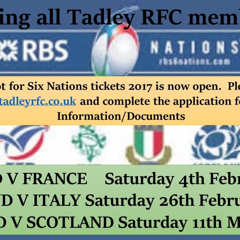 Six Nations 2017 Ticket Ballot Now Open