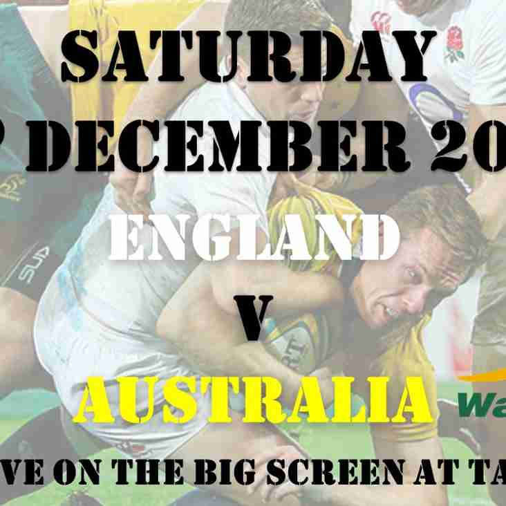 England v Australia on our BIG SCREEN