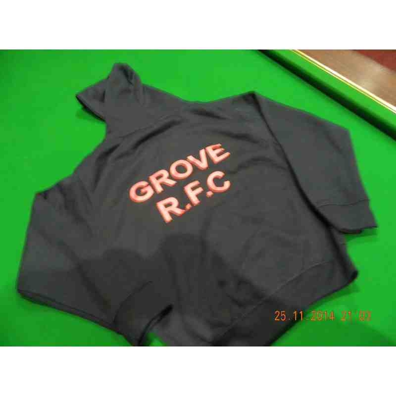 Zip up GRFC Hoodies in Navy and Red