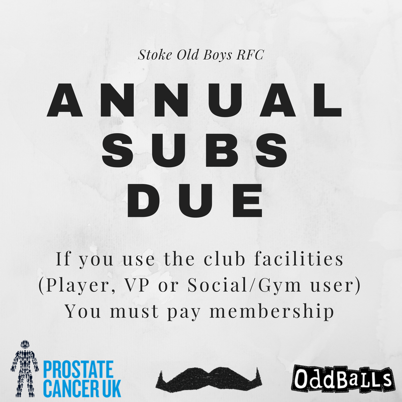 Annual Subs Now Due!