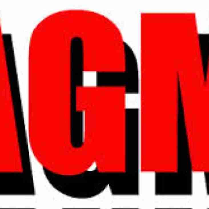 AGM 2015-2016 is on Wednesday 27 July 2016 at 7pm
