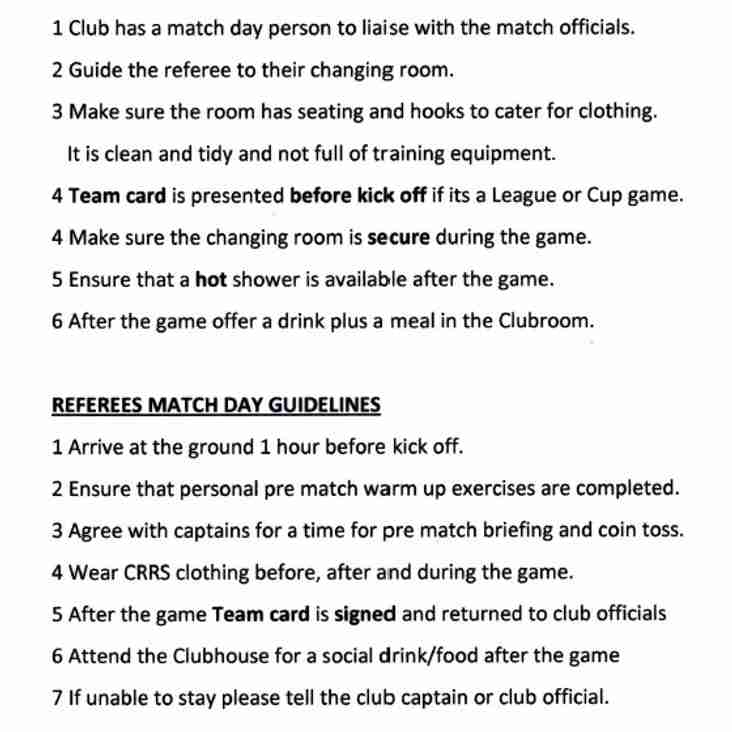 CRRS and CRFU Game Day Charter