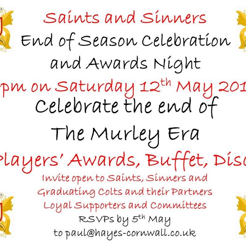 End of Season Celebration  and Awards Night!