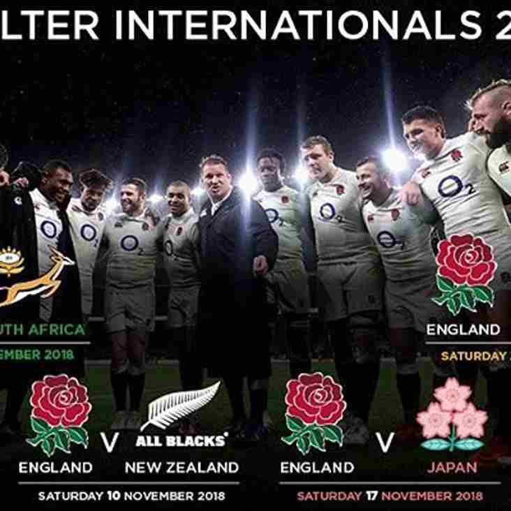 Ticket application details for Quilter Internationals 2018