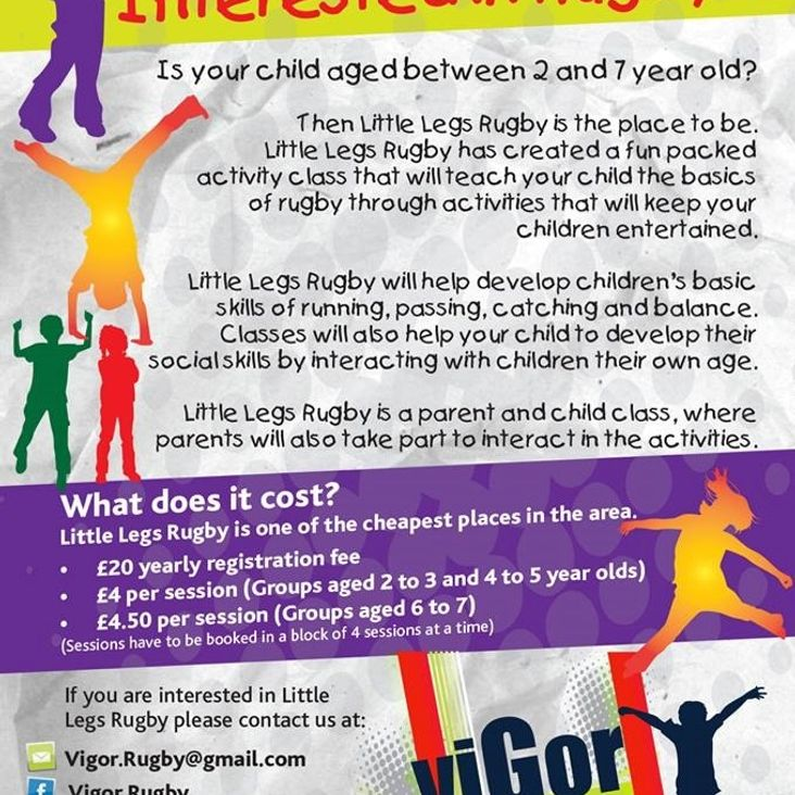 Get your little legs down to Houghton Rugby Club<
