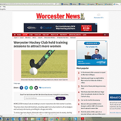 Worcester Hockey Club hold training sessions to attract more women