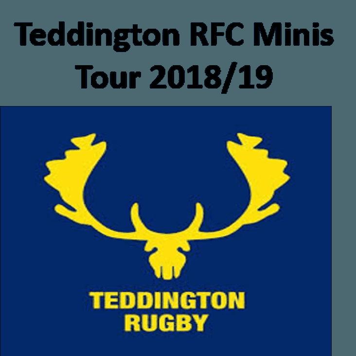 Teddington RFC 2018/19 Mini's Tour - secure your place now
