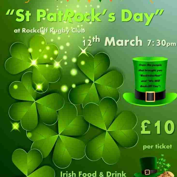 St. PatROCK's Day - 12th March 2016
