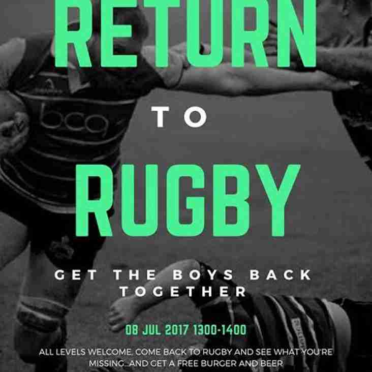 Return To Rugby...