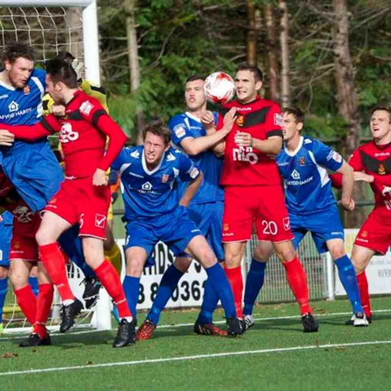 Bangor City First Team v Newtown - 24th October 2015