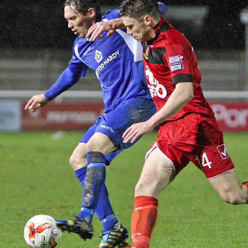 Bangor City First Team v Newtown - 8th January 2016