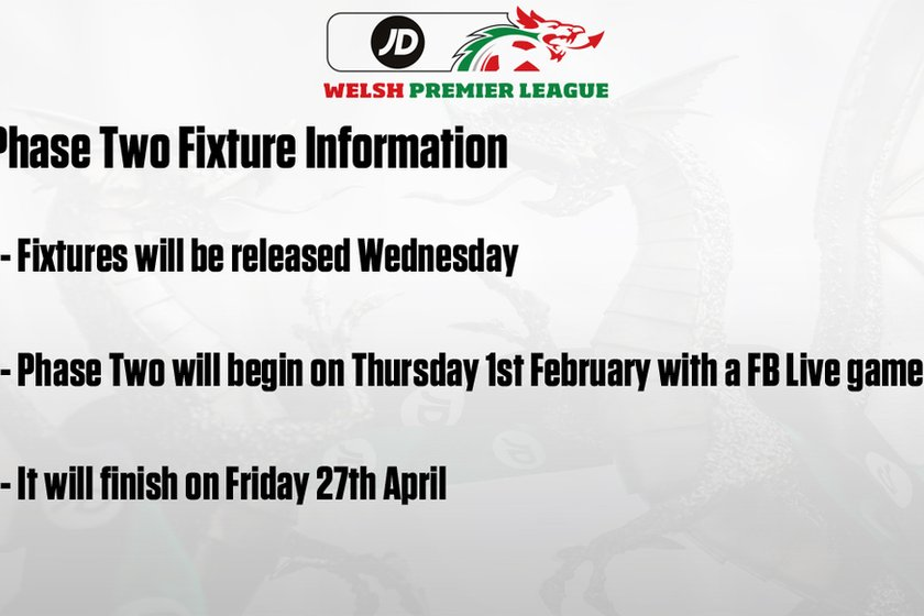 WPL NEWS | Phase Two Fixture Information