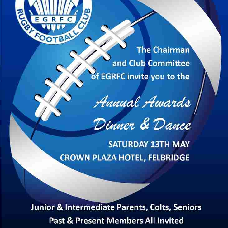 EGRFC Annual Awards Dinner & Dance