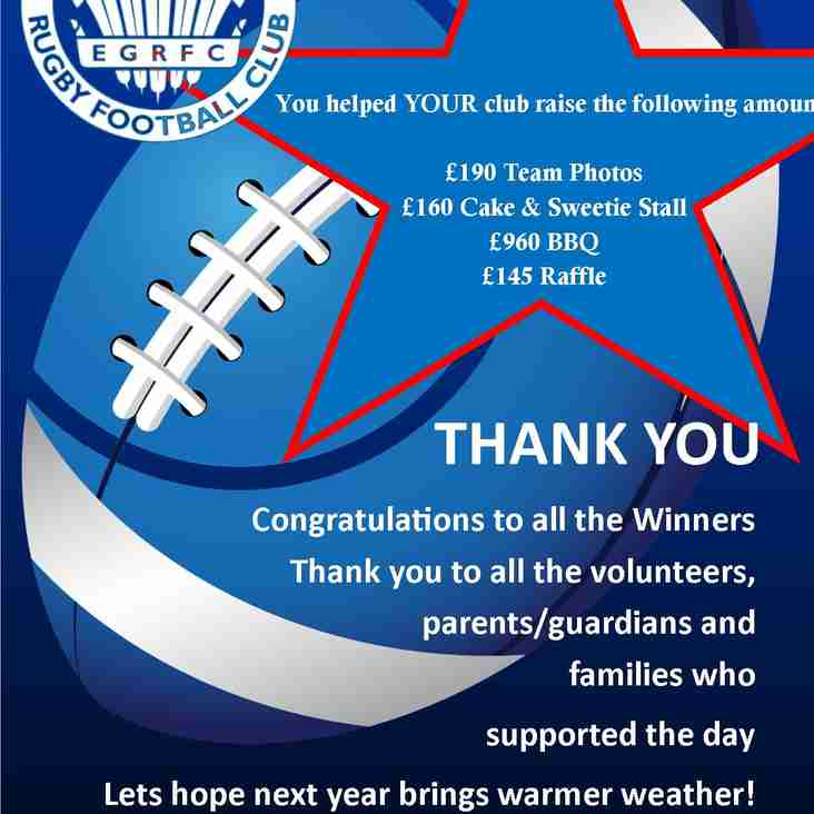 Thank you - Junior Prize Giving