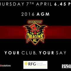 Coventry Dragons AGM 2016: YOUR club, YOUR say