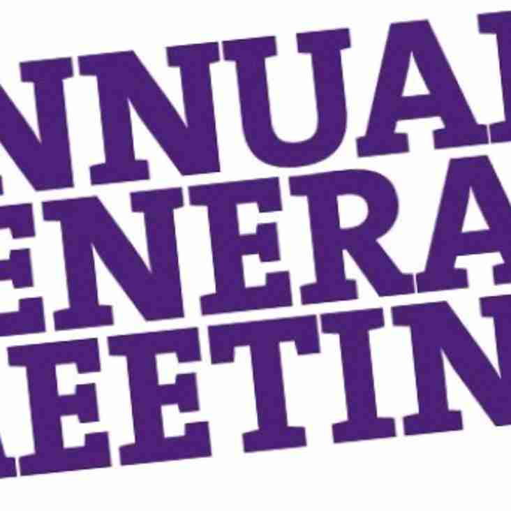 AGM is tomorrow night at 7