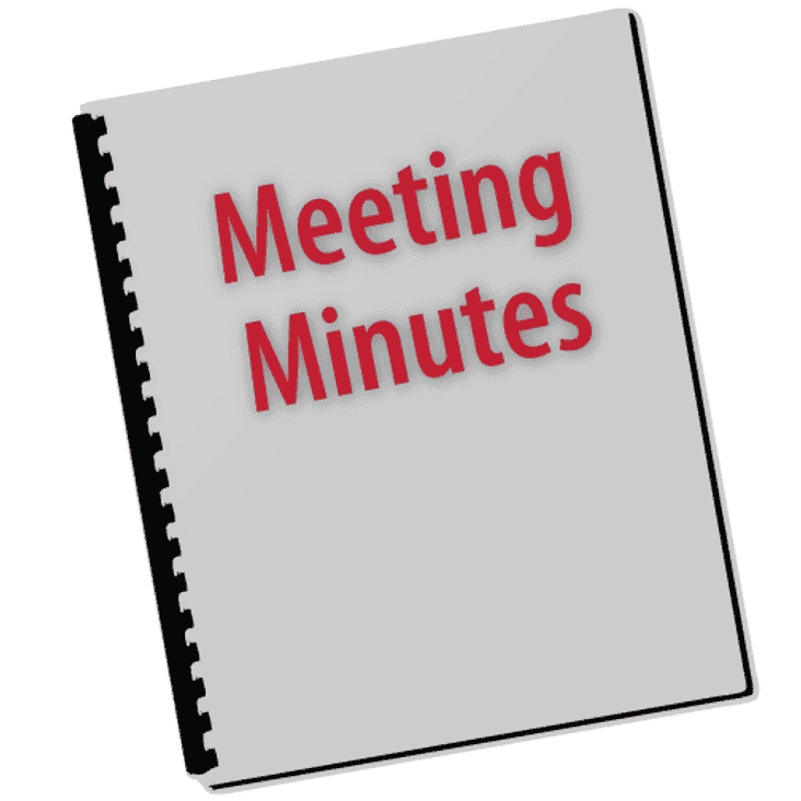 September's Exec Meeting minutes published for your perusal