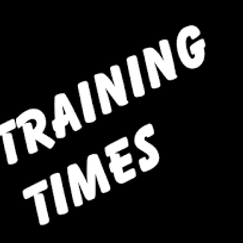 Training Times announced for next season