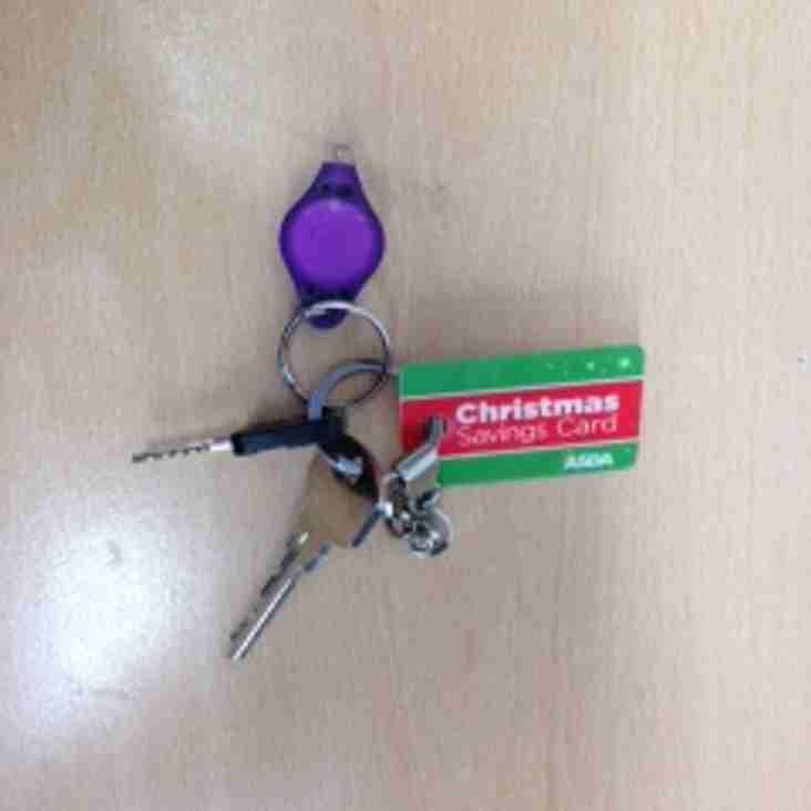 Keys left at training on Wednesday