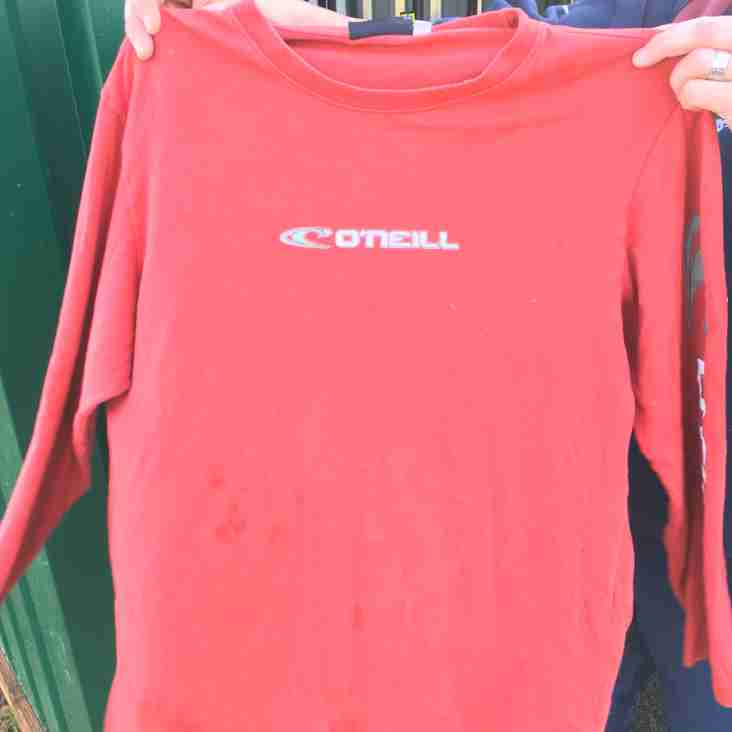Red O'Neill Shirt left at training last week or Saturday.
