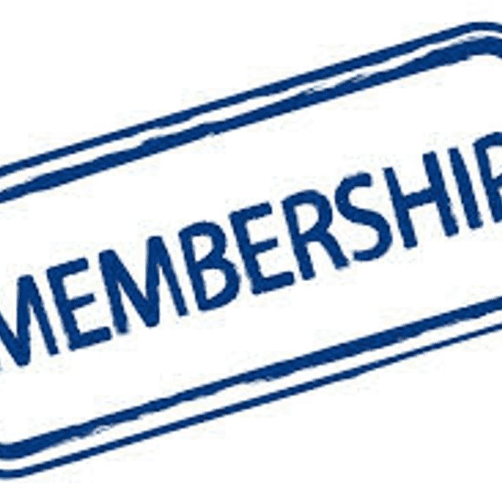 Membership rates for 2018/19