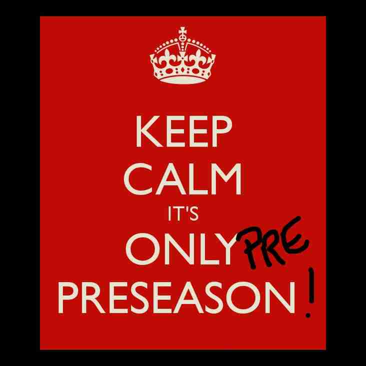 Men's Pre Pre season dates announced - starts next Wednesday 3rd July.
