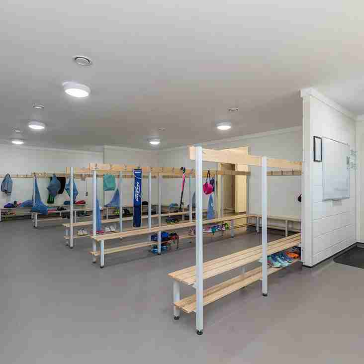 Who uses which changing room at Bishop Stopford School?