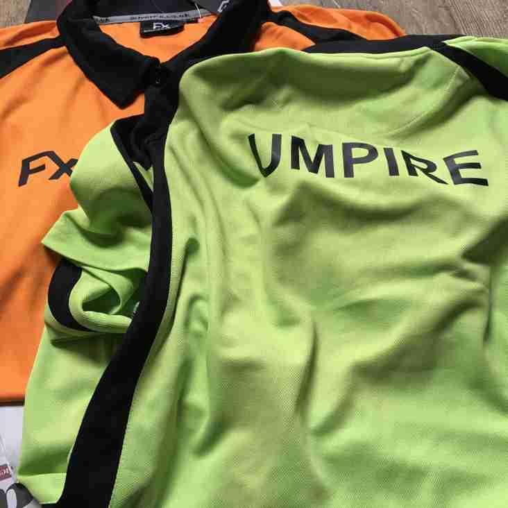 Umpiring shirts are here