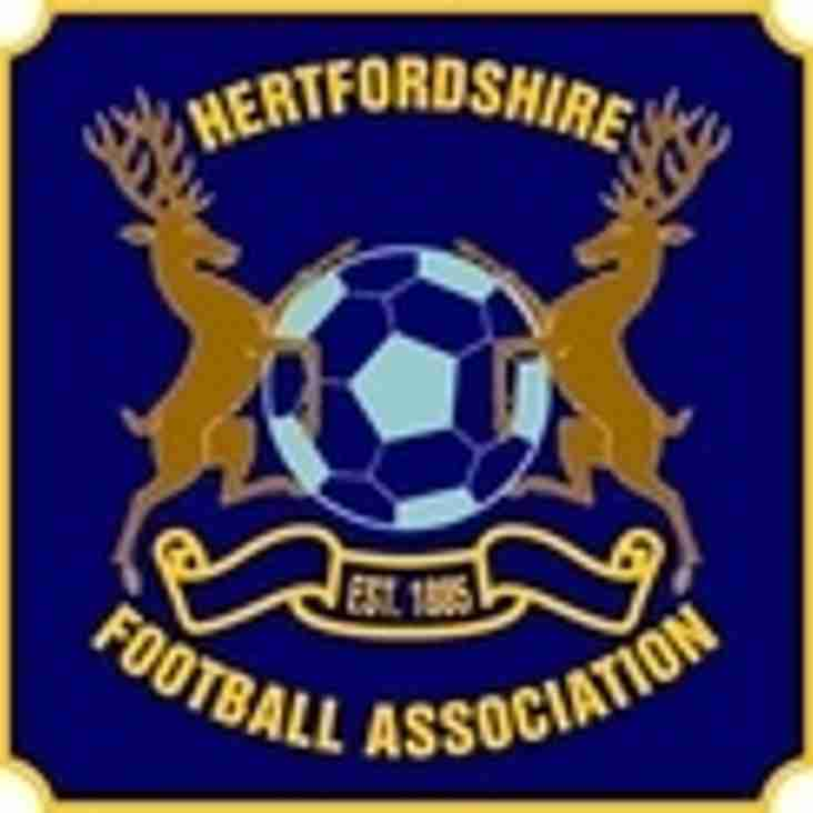 Herts County Cup Draws available