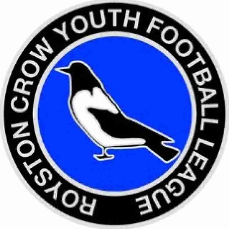Royston Crow Youth Football League fixtures published