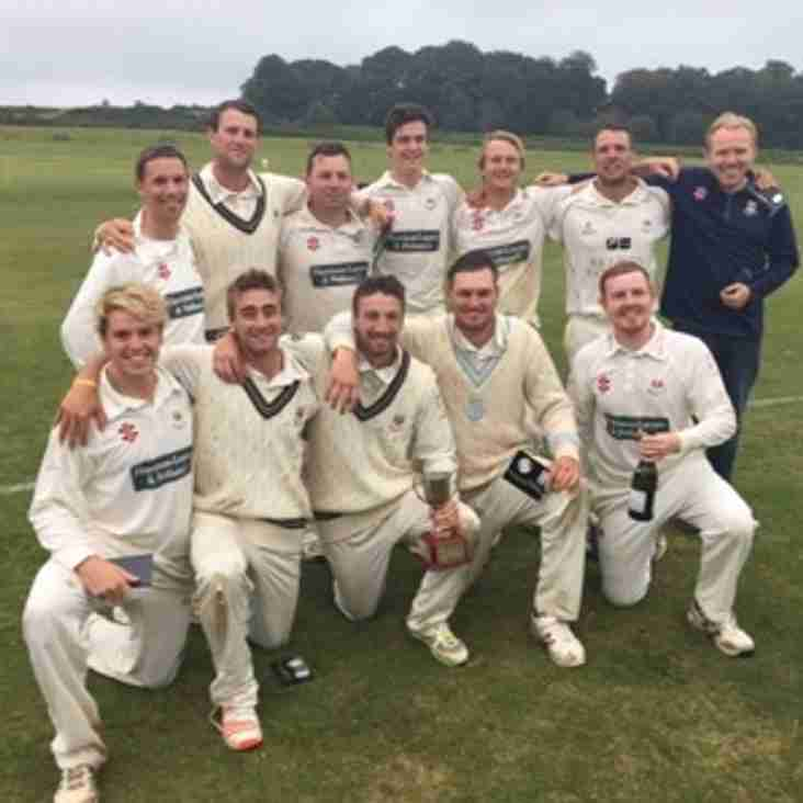 Sidmouth 1st XI Complete the 2016 Double