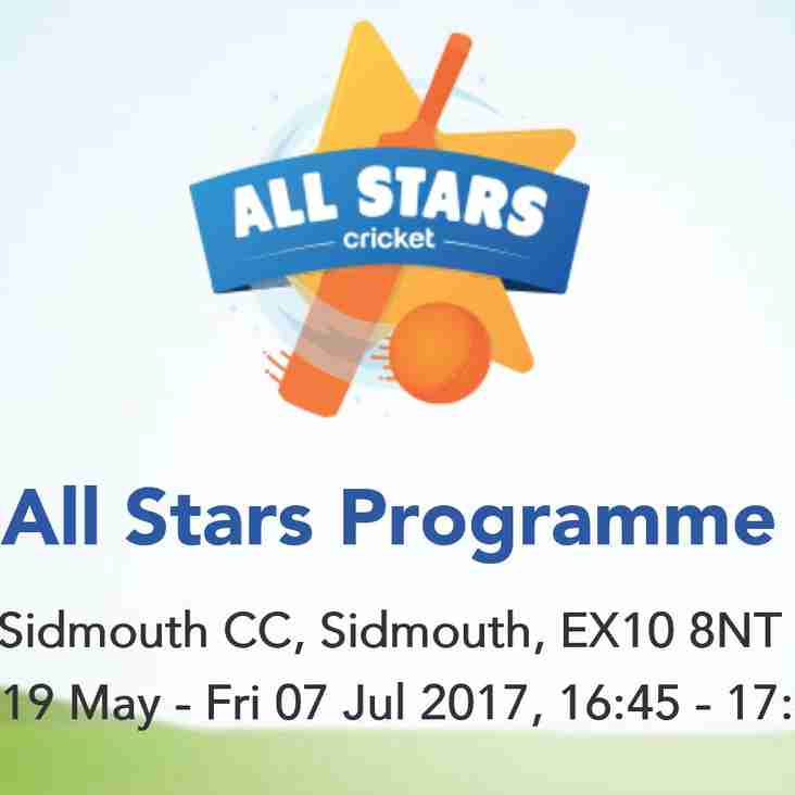 All Stars Cricket coming to Sidmouth