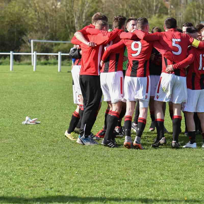 Huddle before the celebrations - courtesy of David Rawlings