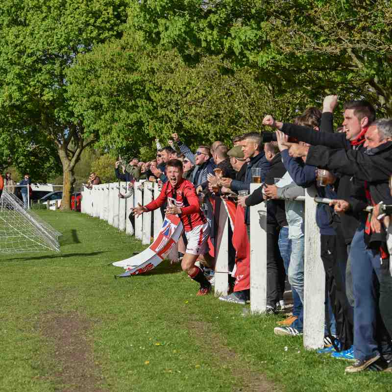 scenes after the goal - courtesy of David Rawlings