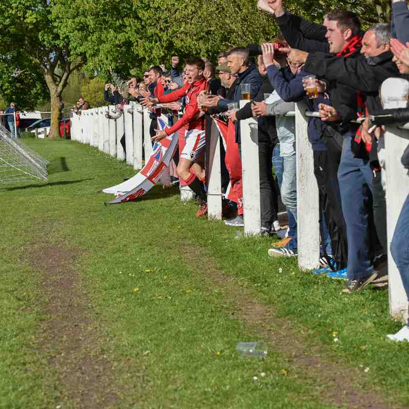 Crisp gets mobbed by the home fans after the goal - courtesy of David Rawlings