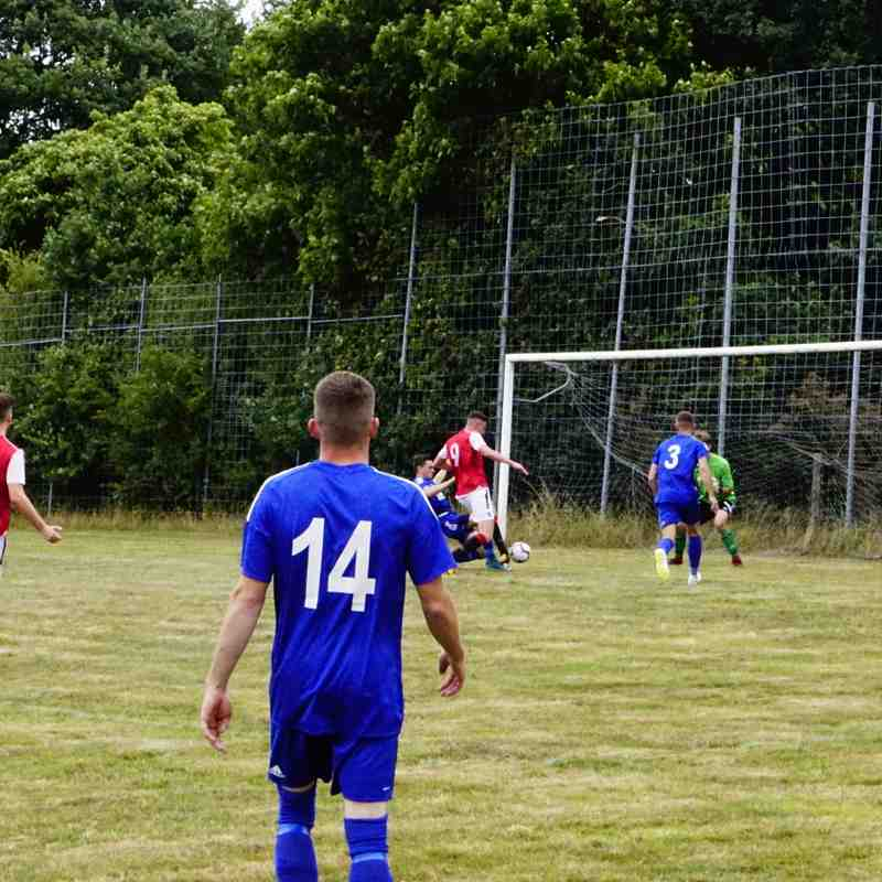 James Lemon puts Spa 3-0 up vs Sikh Hunters (A) photo courtesy of Mathew Mason