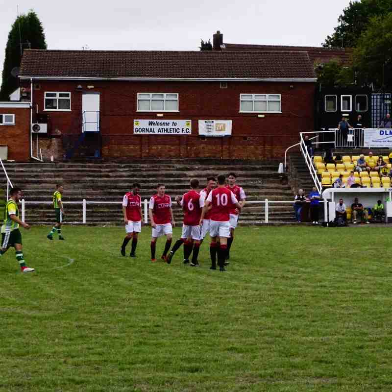 Saltmen celebrate the opener vs Gornal Athl (A) photo courtesy of Mathew Mason